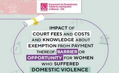 Impact of court fees and costs and knowledge about exemption from payment thereof: Barrier or opportunity for women who suffered domestic violence
