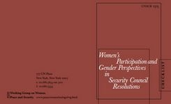Women's Participation & Gender Perspectives in Security Council Resolutions - SC Res 1325 Checklist