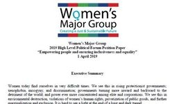 Women's Major Group Position on the 2019 Political Forum: Empowering People & Ensuring Inclusiveness & Equality