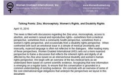 Women with Disabilities - Zika, Microcephaly, Women's Rights, Disability Rights