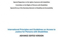 Access to Justice for People with Disabilities - Launch of International Principles & Guidance - Gender