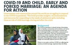 COVID-19 & Child, Early & Forced Marriage: Continuing Alert + Agenda for Action