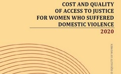 Cost and quality  of access to justice  for women who suffered  domestic violence - 2020