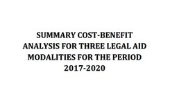 Summary cost-benefit analysis for three legal aid modalities for the period 2017-2020