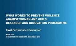 What Works to Prevent Violence Against Women & Girls - Research Report