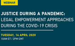 [Webinar] Justice during a pandemic: Legal empowerment approaches during the COVID-19 crisis