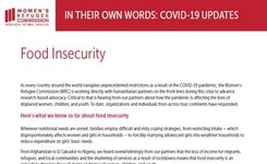 Food Insecurity of Displaced Women, Children, Youth