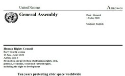 Protecting Civic Space Worldwide - Freedom of Peaceful Assembly - UN SR Report - Gender
