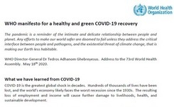 WHO Manifesto for a Healthy & Green COVID-19 Recovery